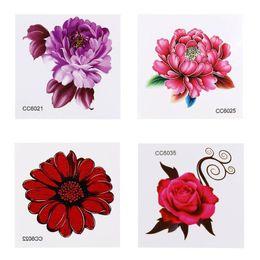 b4ac9c338 1pc Body Tattoos Sticker Lovely Dinosaur New Design Fake Flower Sketch  Temporary Decor Art Tool Waterproof