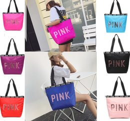 29a42de56976 China Shoulder Bag Wholesale NZ - Sequin Pink Letter Handbags Women girls Shoulder  Bags Love Pink