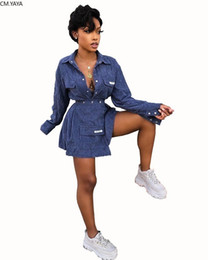 Wholesale women night shirts for sale – plus size Winter Women Sets Full Sleeve Tracksuits Velvet Shirts Tops Skirts Suit Two Piece Sets Night Club Party Street Sexy Outfits T200528