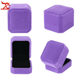 $enCountryForm.capitalKeyWord Australia - Hight Quality Velvet Ring Box Wedding Ring Case Jewelry Storage Box Earring Gift Box Engagement Proposal Showcase