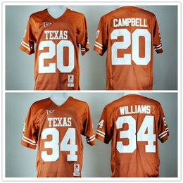 ac6de9a72 ... get 2017 high quality mens jerseys 34 connor williams 20 earl campbell  college texas longhorns football