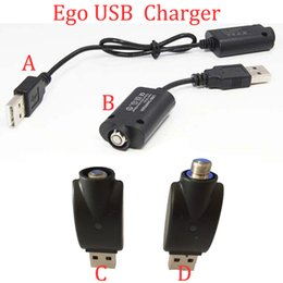 Atacado 4 estilos Ego Carregador USB Cigarro Eletrônico E Charutos Cig para Ego T Ego c EVOD torção visão spinner 2 3 mini bateria em Promoção