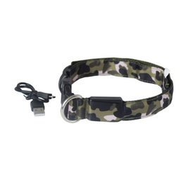 $enCountryForm.capitalKeyWord UK - DHL ship Dog Collars Pet Camouflage Traction Ring LED Light Collar Dog Flash Luminous Pet Collar Collar Perro Dog Accessories