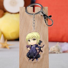 Fate Stay Night Saber Figure Australia - Game Fate Stay Night Cosplay Keychain Acrylic Cartoon Figure Saber Astolfo Car Key Holder Chain Pendants Keyrings Jewelry
