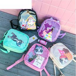 Transparent Computer NZ - good quality Lovely Cat Ear Cartoon Itabag Backpacks Women Candy Color Transparent Bag Shoulder Bag School Teenage Girls Travel Bagpack