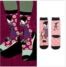 Cotton Cherry Australia - 2019 Spring new socks Japanese cherry blossom lady cotton socks creative Japanese dance Ji Zhong stocking