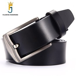 brand name belt for men 2019 - FAJARINA Made in China Quality Genuine Leather Belt Casual Styles Design Cowhide Belts for Men Brand Name Accessories N1