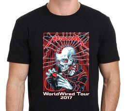 Date Shirt Australia - New METALICA WORLD WIRED Tour 2018 Latest Date T-Shirt Men's Black Sz: S-3XL New 2018 Hot Summer Casual T Shirt Printing