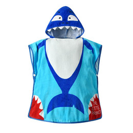 $enCountryForm.capitalKeyWord Australia - Blue Shark Baby bath towel Baby bath robe cute Kids Bath Towels Children Towels Robes Kids Beach Towels Infant cloak Infant cape A3954