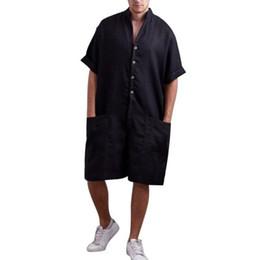 $enCountryForm.capitalKeyWord UK - Vintage Men Strampler Pants Half Shell Cotton Pockets Overall Lost Men Cargo Overalls Overall Casual Pants Men Da068 Y19071301