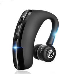 Venta al por mayor de V9 V8 Auriculares inalámbricos Bluetooth CSR 4.1 Estéreo para negocios Auriculares inalámbricos Auriculares Auriculares Con micrófono Control de voz con paquete