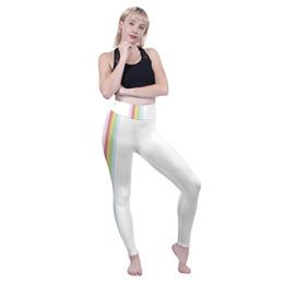 $enCountryForm.capitalKeyWord NZ - Girls High Waist Leggings Pastel Rainbow Stripe 3D Full Printed Workout Pants Women Runner Pencil Fit Lady Skinny Runner Jeggings (Y52272)