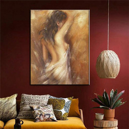 Special Figure Australia - The Bathing woman CANVAS painting Hand Painted retro vintage nude paintings special wall art gift for home decoration naked picture