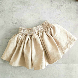 5t boutique clothing 2019 - Baby Solid color Pleated skirts cotton girls Shorts skirt 2019 Summer fashion Boutique kids Clothing 2 colors C6286 disc