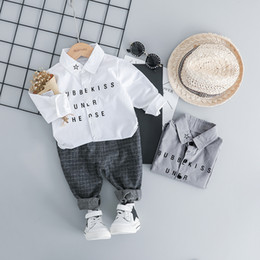 $enCountryForm.capitalKeyWord Australia - Hylkidhuose 2019 Spring Toddler Infant Clothes Suits Casual Style Baby Boys Clothing Sets Star Shirt Pants Kids Children Costume J190717
