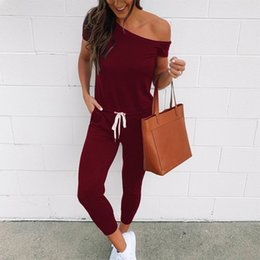 nice jumpsuits Australia - Nice Pop Women One Shoulder Drawstring Jumpsuit Playsuit With Pockets For Summer Cgu 88