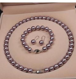 $enCountryForm.capitalKeyWord Australia - Natural Muscatel purple grapes Pearl Necklace Bracelet Earrings Set