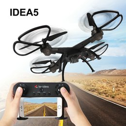 Wifi Electric Australia - IDEA5 DRON 2.4G WiFi FPV 4 Axis Gyro Hover Drone with 0.3MP Camera HD Headless Mode toys for children RC Quadcopter Selfie Drone