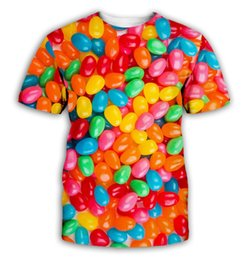 $enCountryForm.capitalKeyWord Australia - Candy 3D Men Women Short Sleeve Printed T-Shirt Colorful Candy Couple's Clothes Best Selling unisex Tee Colorful Lollipop CA004