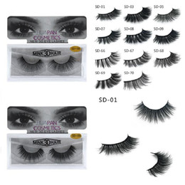 Discount human hair extensions brand - New Brand HUAPAN 3D Mink Eyelashes Eyelashes Messy Eye Lash Extension Sexy Eyelash Full Strip Eye Lashes 3001324