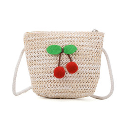 $enCountryForm.capitalKeyWord UK - New idyllic summer children bag cute bear shoulder bag cute cherry radish straw Princess diagonal bag