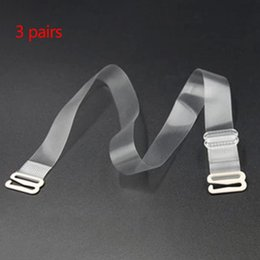 58940842695 Bra Strap Holders Australia - Women Adjustable Clear Invisible Bra Belt  Replacement Frosted Widen Anti-