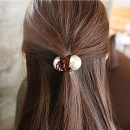 $enCountryForm.capitalKeyWord Australia - Hot Fashion 1PC Fashion Girls Pearl Hairpins Gifts Mini Hair Claw Vintage Retro Hair Clips Hair Styling Tools For Dropshipping