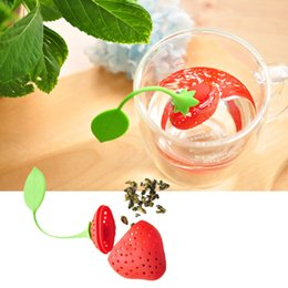 $enCountryForm.capitalKeyWord Australia - Lovely Fruit Strawberry Shape Tea Infuser Food Grade Silicone Tea Strainer For Loosing Leaf In Teapot WCW558