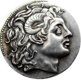 Discount bc box - G(14)Rare Superb Silver Lysimachos Tetradrachm with Portrait of Alexander - 297 BC copy coins