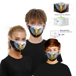 animal anti dust Australia - New Animal Mask Unisex Kids Fancy Washable Masks With 5-layer Carbon Replaceable Filter Reusable Dust Outdoor Anti-dust Proof Mask