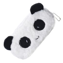 pen pencil kids UK - Wholesale- 1 PCS Kids Cartoon Panda Pencil Case Plush Large Pen Bag Cosmetic Makeup Cartoon Storage Bag