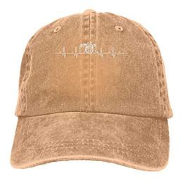 $enCountryForm.capitalKeyWord NZ - 2019 New Wholesale Baseball Caps Print Hat Camera Heartbeatvv Mens Cotton Adjustable Washed Twill Baseball Cap Hat