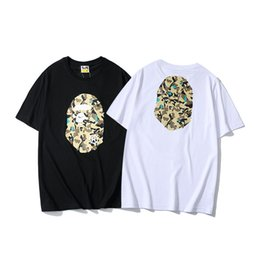 Wholesale Summer new street fashion camouflage printing men s casual T shirt youth round neck personality short sleeve mens designer t shirts t shirt