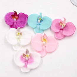 $enCountryForm.capitalKeyWord Australia - 100pcs Artificial Flower Head Silk Butterfly Orchid Head for Wedding Car Home Decoration Diy Flores Cymbidium Handmade