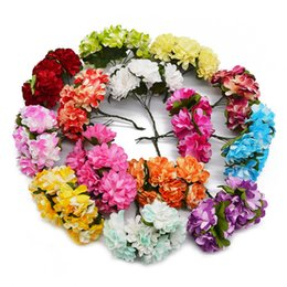 $enCountryForm.capitalKeyWord Australia - 144Pcs 3cm Paper Rose Artificial Flowers Wedding decoration Mini Handmade Bouquet Small Party Scrapbooking DIY Azalea Flower