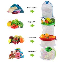 $enCountryForm.capitalKeyWord Australia - 12Pcs Reusable Multi-Purpose Shopping Bags for Vegetables Fruits Toys Storage Large Capacity Top-ranking Material Environmental Bags