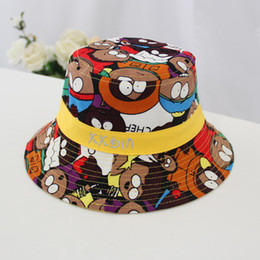 $enCountryForm.capitalKeyWord Australia - New fall 2019 flat-topped graffiti fisherman hat for children 1 to 2 year old children shading hat 4 colors 01