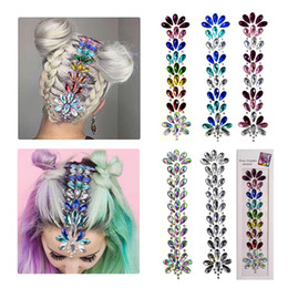 Crystal adhesive stiCker online shopping - Face Hair Gems Jewels Stickers Mermaid Rhinestone Glitter Tattoos Multi purpose Eyes Forehead Body Hair Self Adhesive Crystals Gems for Gir