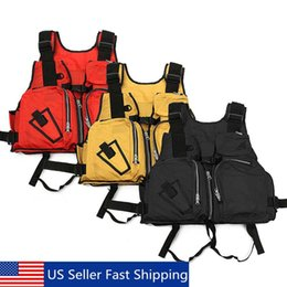 Discount sail clothes New Adult Nylon Adult Aid Sailing Swimming Fishing Boating Kayak Life Jacket Vest Safety Clothing Drop Shipping