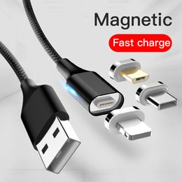 $enCountryForm.capitalKeyWord NZ - 3A Magnetic Cable Fast Charging USB Type C Android For Samsung S8 S9 Xiaomi Magnet Charger Cables Wholesale