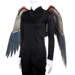 $enCountryForm.capitalKeyWord Australia - fashion Mardi Gras Big Eagle Wings Costumes Non Woven Fabrics dark wings Adult halloween costumes Fancy Dress Ball Costumes cosplayT2I5329
