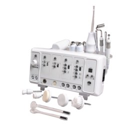 Ultrasonic High Frequency Machine Australia - 6 in 1 multifunction skincare machine ultrasonic face brush high frequency face massager Galvanic beauty machine