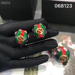 $enCountryForm.capitalKeyWord Australia - 2019 new product personality exaggerated retro red and green big earrings European and American fashion trend of the ancient style pink diam