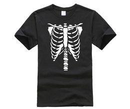 skeleton t shirts wholesale UK - Men's 2019 Fashion Style T-Shirt Halloween Skeleton Men's Cool Short-Sleeve Summer t-shirt