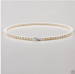 gold rope chain necklace 6mm 2019 - 5-6mm Natural Japanese Akoya White Pearl Necklace 18inch 925S Clasp cheap gold rope chain necklace 6mm