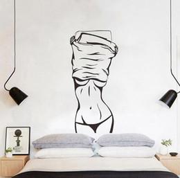 $enCountryForm.capitalKeyWord NZ - Sexy girl wall sticker creative European and American living room bedroom decoration background sticker wall decoration