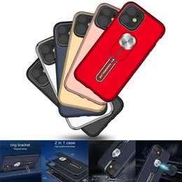 iphone plus shock proof case Canada - Mobile designer phone case For iphone 11 pro max case Multi-function Full Body Rugged Cases Shock Proof Drop Stand coque iphone 11 case