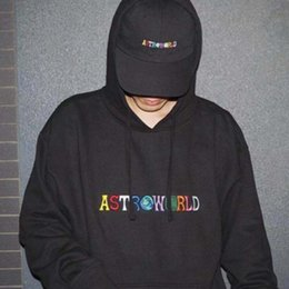 embroideries sweatshirts UK - Three-dimensional Embroidery Hoodie Sweatshirts Free Shipping Printing Hip Hop Pullover New Travis Hoodies HFWPWY119