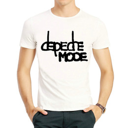 $enCountryForm.capitalKeyWord Australia - Depeche t shirt Mode short sleeve tops Speak and spell pop rock band colorfast print tees Unisex clothing Fadeless modal tshirt