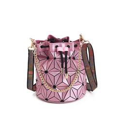 Bag strings online shopping - Hot Sale Brand Designer handbag purse High quality Geometric Handbags Plaid Chain Shoulder Crossbody bags Laser BaoBao Diamond Bag